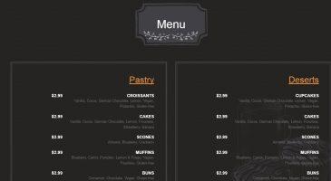 פיתוח אתר למסעדה - בניית אתר לבית קפה
